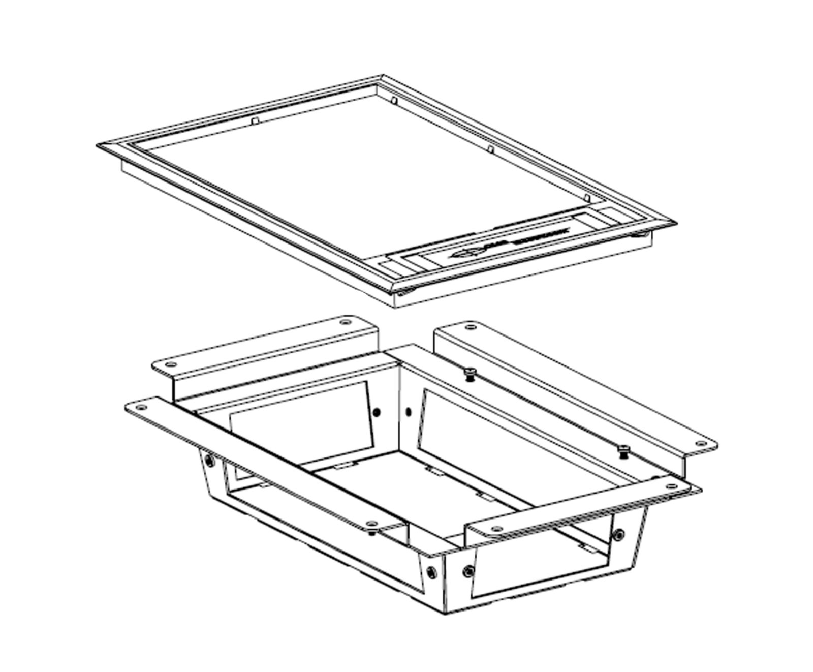 titan access 4comp low profile undercarriage with plastic