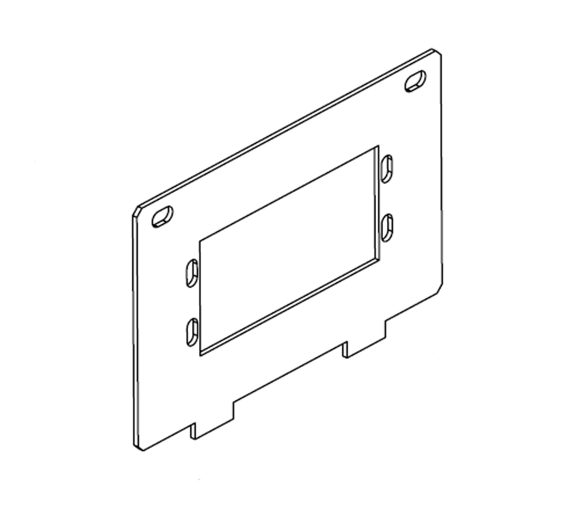 titan floor box aap extron adapter plate to suit 1 x double or 2 x single modules