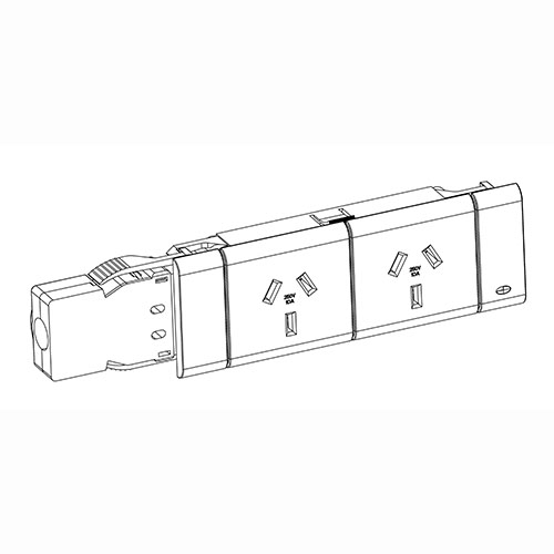 double gpo kit including l3 20 rewireable coupler to suit