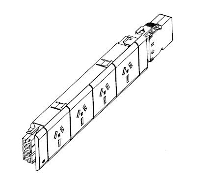 Quad Gpo Kit Including L3 20 Rewireable Coupler To Suit Ft4tp Series