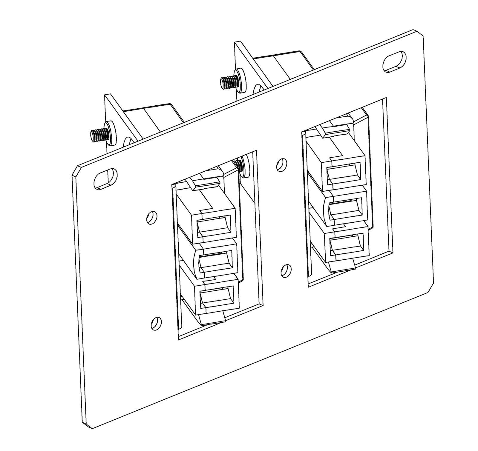 titan floor box dual starter full plate c  w rewireable