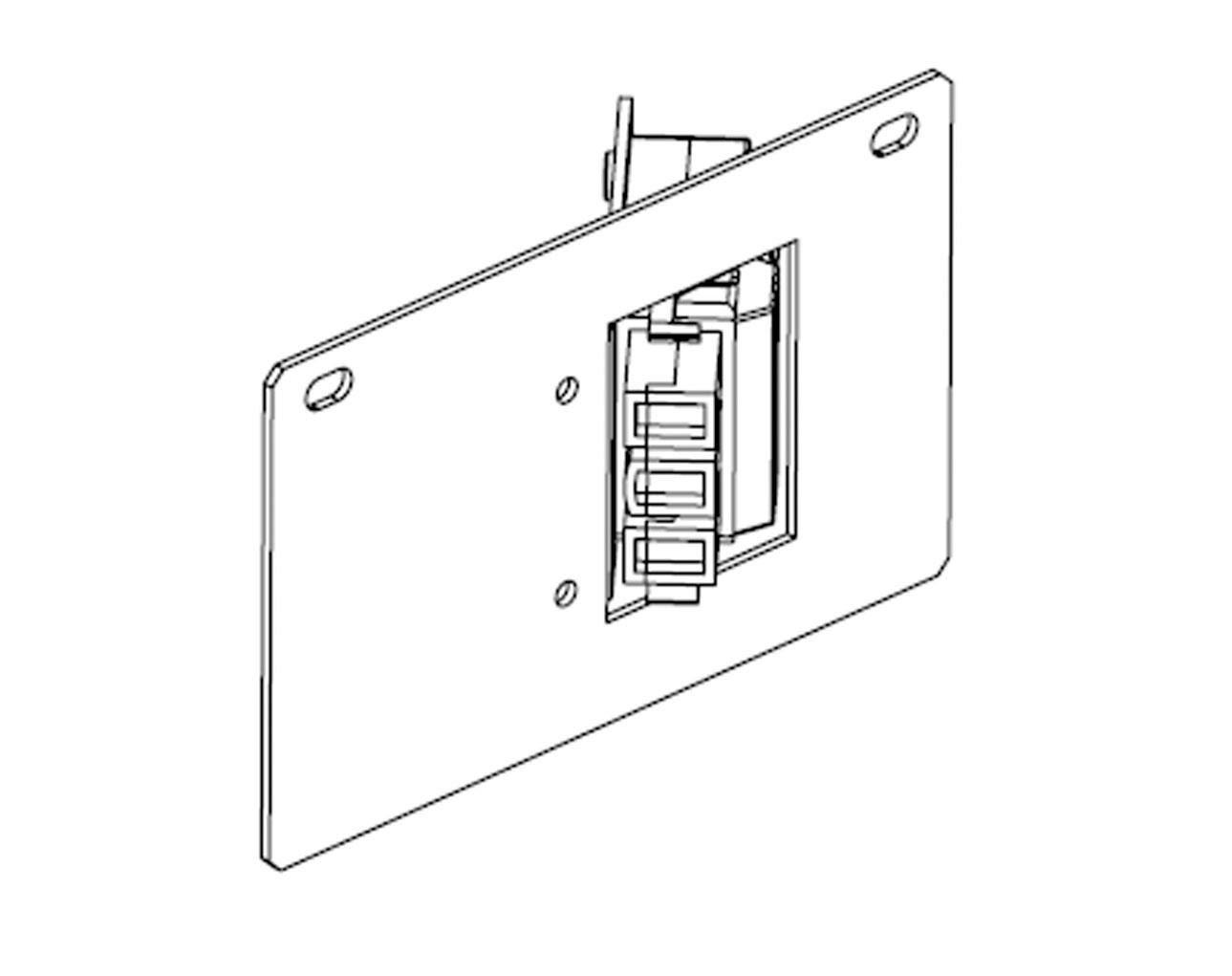 titan floor box single starter full plate c  w rewireable